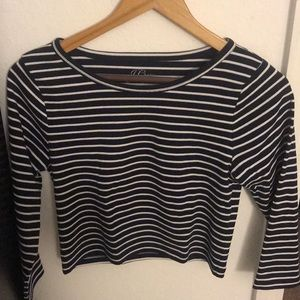 J. Crew Cropped Long Sleeve Tee